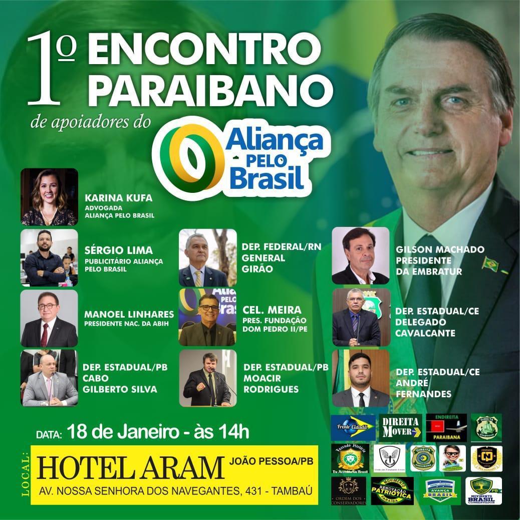 WhatsApp Image 2020 01 18 at 09.19.57 - Apoiadores de Bolsonaro se reúnem em João Pessoa para iniciar coleta de assinaturas para criação do Aliança pelo Brasil