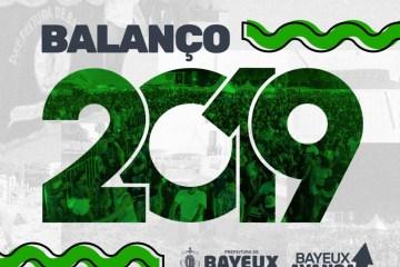 balanço - Prefeitura de Bayeux encerra 2019 com números positivos e afirma compromisso com o povo para 2020