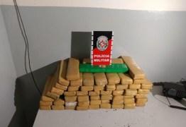APREENSÃO: Homem é preso com 54 tabletes de maconha em Santa Rita