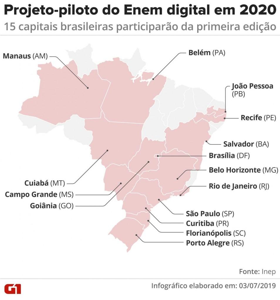 mapa enem digital 2020 - Inep divulga notas individuais do Enem 2019