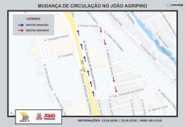 Semob-JP altera trânsito e trecho no bairro João Agripino passa a funcionar em mão única