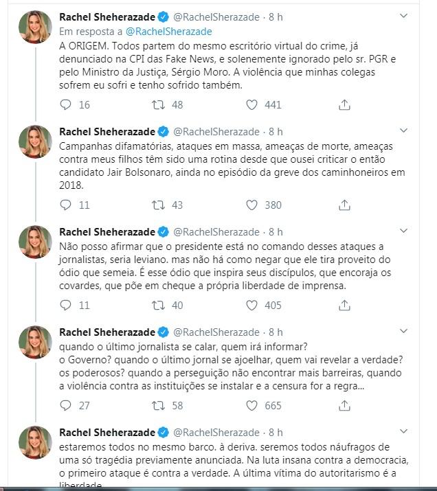 Capturar6 5 - Jornalista paraibana publica tuítes afirmando sofrer ameaças, após criticar Bolsonaro