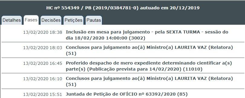JULGAMENTO - DECISÃO COLEGIADA: Laurita Vaz marca para a próxima terça-feira julgamento de Ricardo no STJ