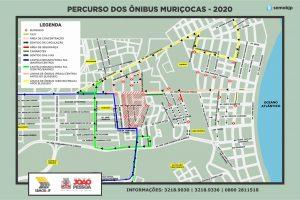 PERCURSO DOS ÔNIBUS MURIÇOCAS 2020 300x200 - MURIÇOCAS DO MIRAMAR: Semob-JP divulga plano de mobilidade para o desfile