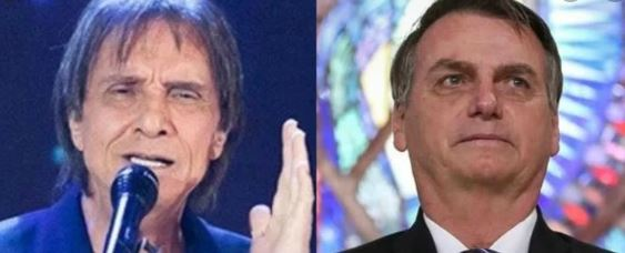 bolsonaro e roberto carlos - Roberto Carlos culpa equipe de Bolsonaro por 'dificuldades' e diz que presidente é 'bem intencionado'