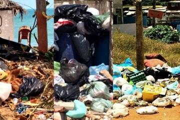 costa do lixo sem coleta regular lixo fica acumulado nas praias de conde no litoral sul do paraiba - PSB emite nota e diz que CPI do Lixo é arbitrária; confira