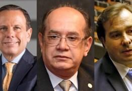 """""""PELO FIM DA BONOMIA"""": Doria, Gilmar e Maia veem escalada de 'autoritarismo' no Planalto"""