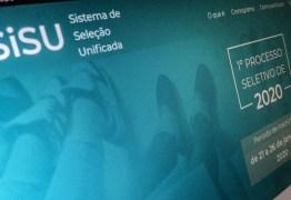 Paraíba tem quase 5 mil vagas ofertadas para o Sisu 2020.2