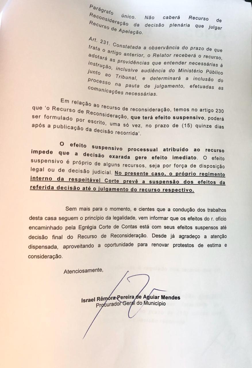WhatsApp Image 2020 03 09 at 18.23.06 - Defesa de Berg Lima protocola recurso contra intervenção e pede suspensão de votação na Câmara de Bayeux