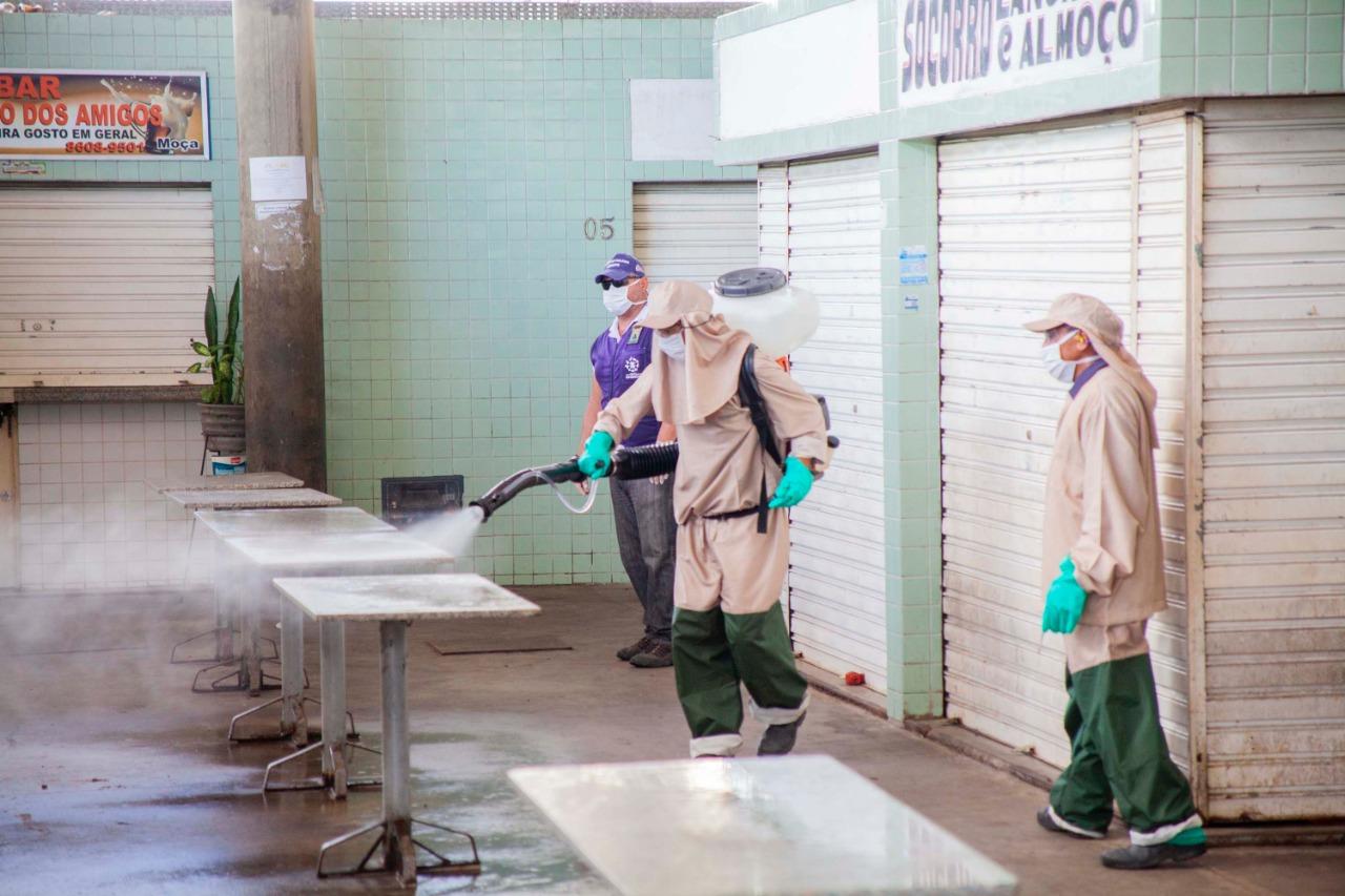 WhatsApp Image 2020 03 29 at 16.21.51 - Prefeitura higieniza UPAs e mercados públicos nesta segunda-feira no combate ao coronavírus