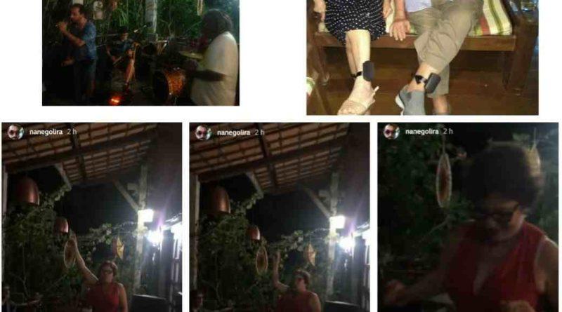 festa marcia2 - Se jogou na dança: Márcia Lucena não se deixa abalar por medidas cautelares e aproveita festa em sua residência - VEJA VÍDEO