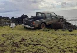 Motorista danifica escultura na Ilha de Páscoa; prefeito quer restrições ao tráfego