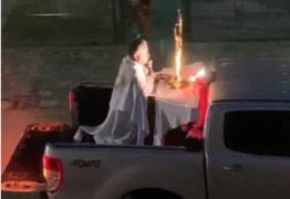 BENÇÃO E ORAÇÃO: padre faz celebração em cima de caminhonete pelas ruas de Natal – VEJA VÍDEO