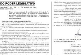 PBPREV: Governo do Estado sanciona lei de reforma da previdência dos servidores estaduais