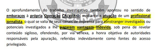 vantagem indevida - FABIANO GOMES NO ROGER: Comunicador presta esclarecimentos na Polícia Federal sobre suposta chantagem a envolvidos na Calvário