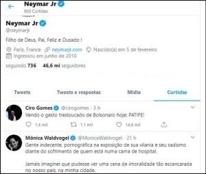 20200420002012985365o 1 300x254 - NO TWITTER: Neymar recua e descurte postagens contra Bolsonaro e apoiadores do governo