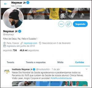 20200420002020109060o 300x285 - NO TWITTER: Neymar recua e descurte postagens contra Bolsonaro e apoiadores do governo