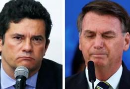 Jornal Nacional exibe troca de mensagens entre Moro e Bolsonaro onde presidente cobra mudança no comando da PF