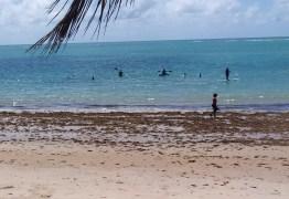 Banhistas desrespeitam isolamento e vão à praia, em João Pessoa