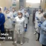 Capturarç - SOLDADOS DE FRENTE DE BATALHA: profissionais da UPA de CG emocionam pacientes ao se reunir para cantar durante plantão - VEJA VÍDEO