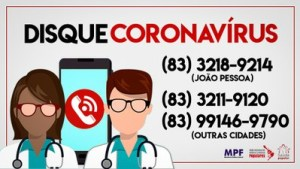 DISQUE CORONA 300x169 - CORONAVÍRUS: População vulnerável na Paraíba recebe orientações da Rede Nacional de Médicas e Médicos Populares