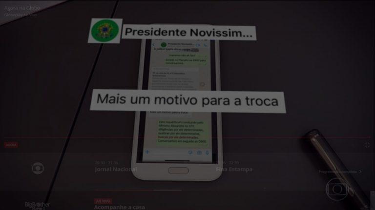 WhatsApp Image 2020 04 24 at 21.16.24 768x431 1 - Jornal Nacional exibe troca de mensagens entre Moro e Bolsonaro onde presidente cobra mudança no comando da PF