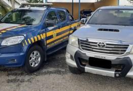 PRF na Paraíba recupera veículo de luxo que estava clonado