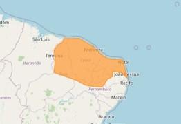 Inmet emite alerta de chuvas para toda a Paraíba