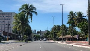 cidade vazia 300x171 - NOVO DECRETO: Medidas restritivas e isolamento social seguem até 31 de maio em João Pessoa
