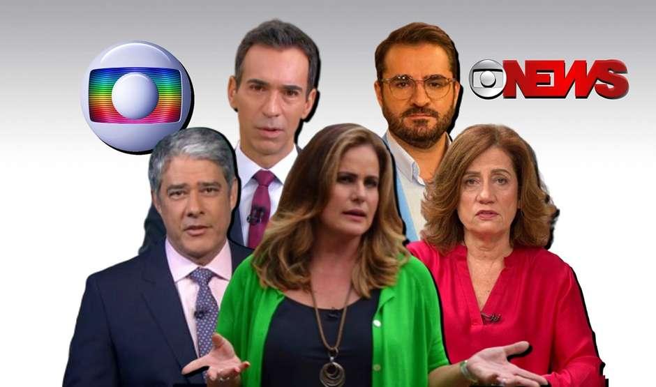 jornalistas - 'FIQUEM EM CASA': jornalistas da Globo estão sob forte pressão no estúdio e nas ruas