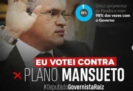 GOVERNISTA RAIZ: deputado Julian Lemos é contra Plano Mansueto