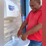 lavatorio covid diamante pb - CORONAVÍRUS: Empresário cria lavatório público com próprios recursos em Diamante, PB