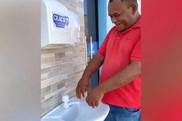 CORONAVÍRUS: Empresário cria lavatório público com próprios recursos em Diamante, PB