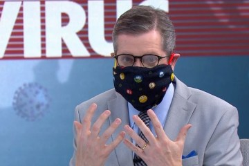 marcio gomes - NO AR: Apresentador da Globo ensina a fazer máscara caseira e toma bronca de especialista