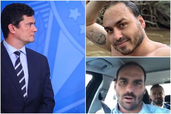 moro carlos eduardo bolsonaro - Na mira do clã Bolsonaro: Carlos e Eduardo Bolsonaro direcionam artilharia contra Sergio Moro