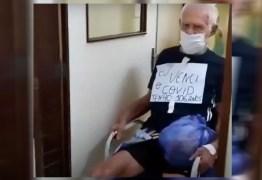 TESTOU POSITIVO: Idoso de 106 anos recebe alta após vencer o coronavírus, em João Pessoa