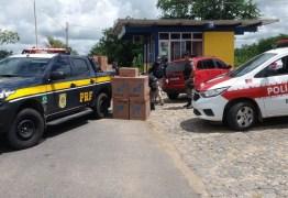 PRF apreende 2 mil pacotes de cigarros contrabandeados durante fiscalização no Sertão da Paraíba