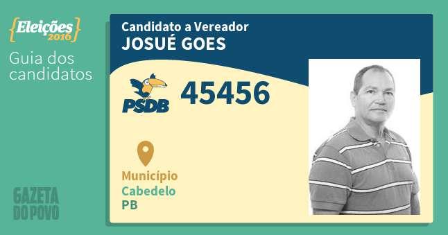 santinho vereador josue goes 45456 cabedelo pb - R$ 30 MIL MENSAIS: MPPB processa vereador afastado de Cabedelo por acúmulo ilegal de cargos públicos