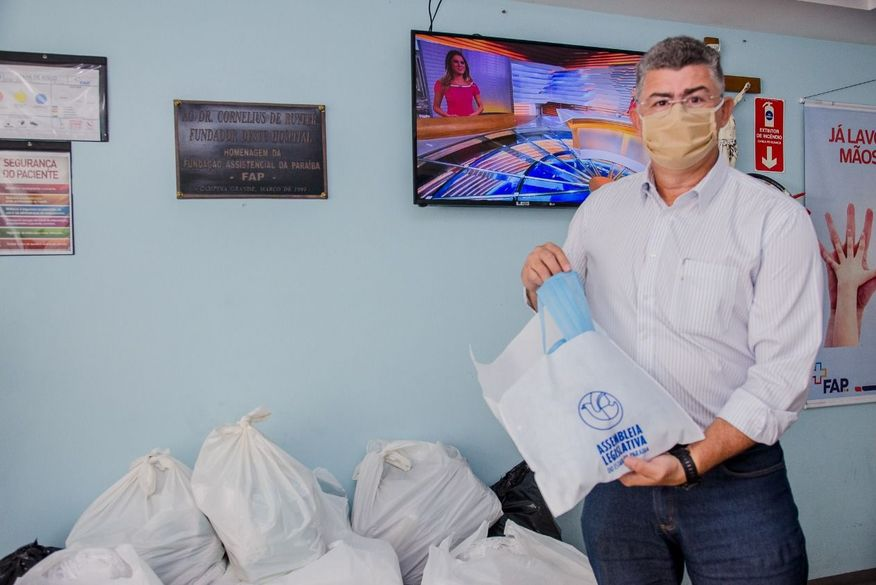 whatsapp image 2020 04 30 at 134514 1 - Assembleia Legislativa distribui 20 mil máscaras a Hospital da FAP em Campina Grande
