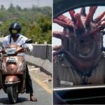 xblog helmet.jpg.pagespeed.ic .OKKkQlUyIr - Policial usa 'capacete de coronavírus' para assustar motoristas