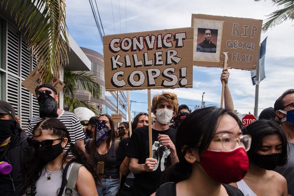 000 1sl5j7 - EUA têm 25 cidades sob toque de recolher e 1,6 mil detidos em protestos antirracistas