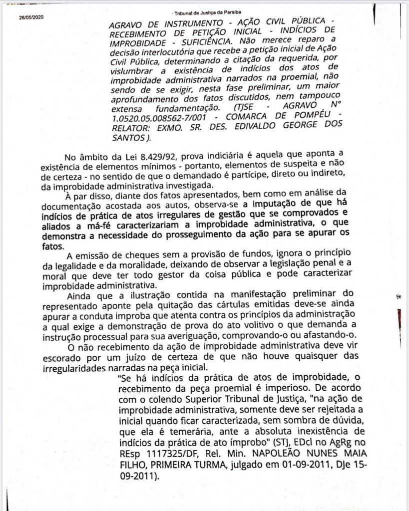 03 - Justiça vê indícios e ex-prefeito de Alhandra Marcelo Rodrigues é investigado em ação de improbidade administrativa