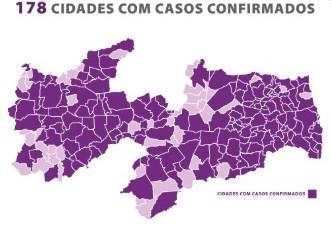 Paraíba confirma 315 novos casos de Covid-19 e 14 óbitos neste domingo