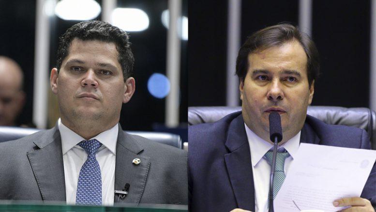 Alcolumbre e Maia 777x437 1 - Congresso Nacional decreta luto oficial por quase 10 mil mortes por covid-19 no Brasil
