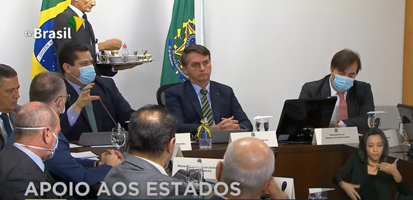 Capturar 79 - PANDEMIA DO CORONAVÍRUS: Governadores, presidentes do Senado e da Câmara se reúnem com Bolsonaro - VEJA VÍDEO