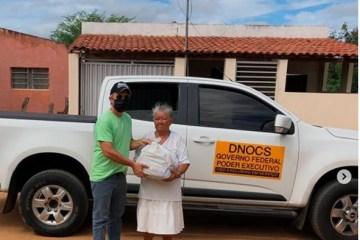 Departamento nacional de obras contra as secas distribui uma tonelada de alimentos em municípios da PB