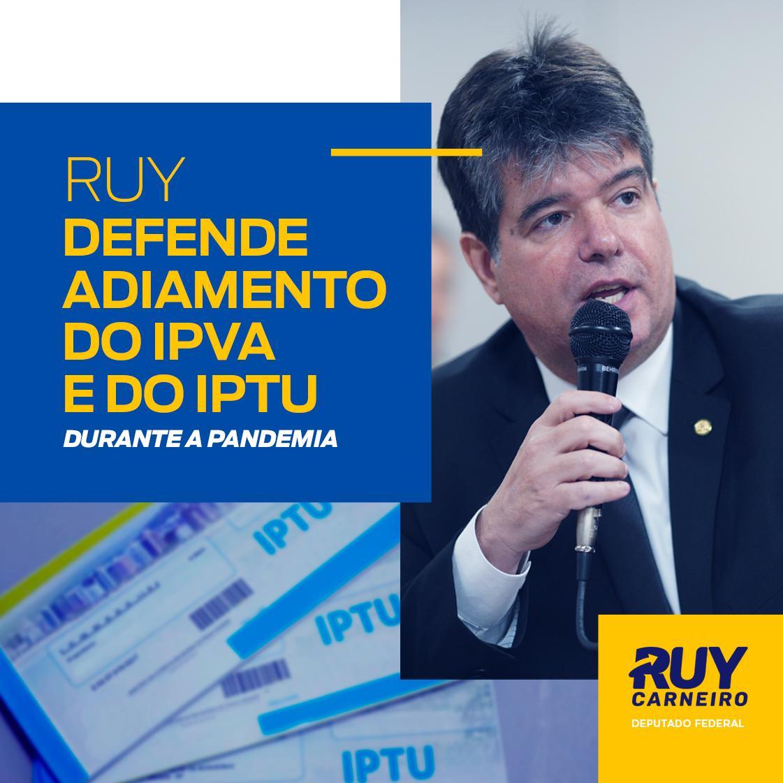 """WhatsApp Image 2020 05 27 at 16.20.20 - Ruy defende adiar cobrança do IPVA e do IPTU: """"As famílias e empresas estão no sufoco"""""""