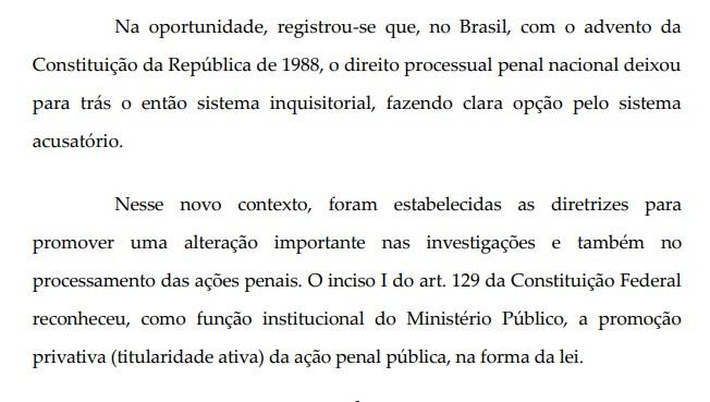 aRAS 1 - Aras pede arquivamento de inquérito ao STF: 'Ficou para trás o sistema inquisitorial'; LEIA TRECHO