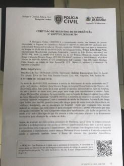 bo 1 - BRIGA PELA HERANÇA BRAGUISTA: Neto registra Boletim de Ocorrência contra filha adotiva do casal