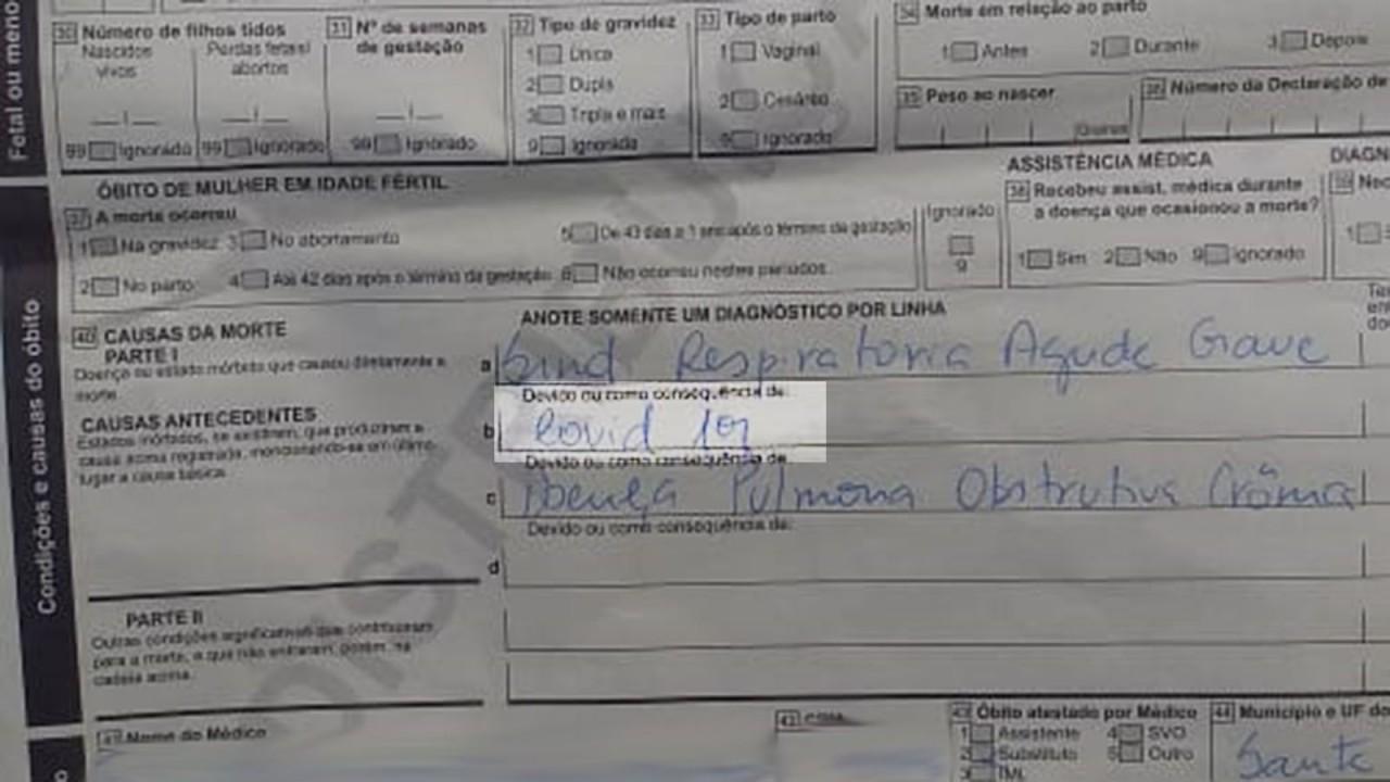 declaracao de obito parte 2 - NA UTI: Idoso dado como morto por Covid-19 está vivo após erro de hospital na PB